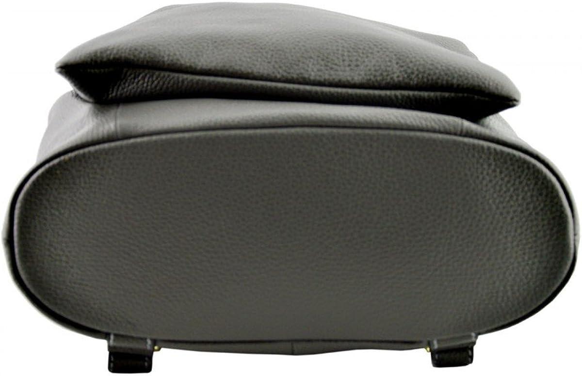 Genuine Leather Backpack and Shoulder Bag Color Dark Grey