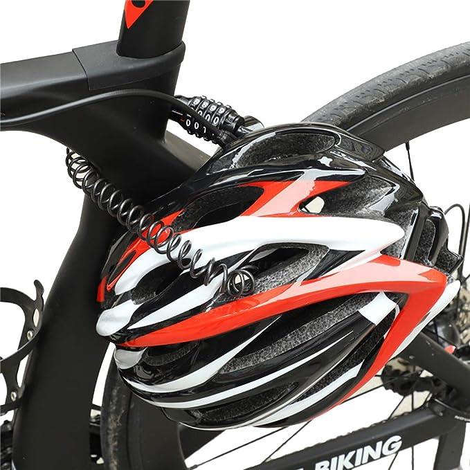 de Metal combinaci/ón de Seguridad antirrobo Candado de Cable para Bicicleta Equipo de Ciclismo al Aire Libre con 2 Llaves multifunci/ón