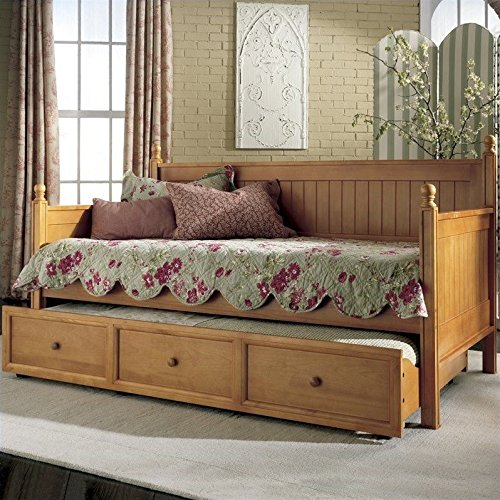 Maple Finish Wood Daybed - 3