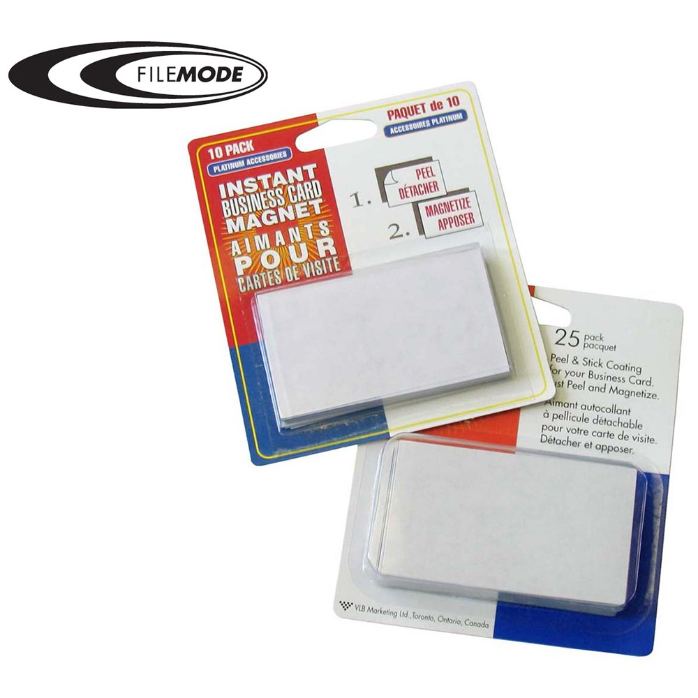 FileMode Peel N Stick Instant Business Card Magnets 61225 Amazonca Office Products