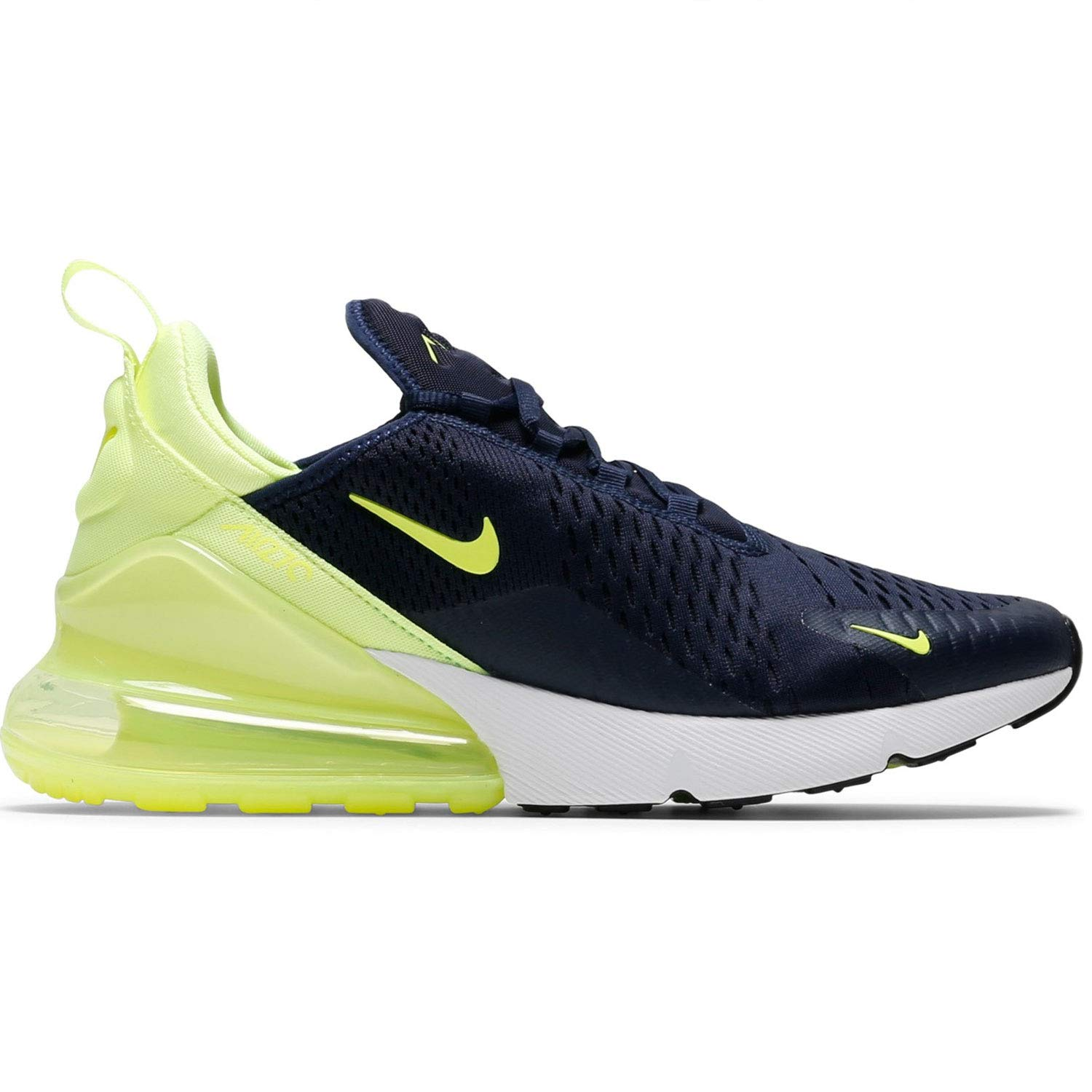 buy online 352cf 6a746 Amazon.com   Nike Air Max 270 Womens (7 M US, Obsidian Volt Glow-Volt Glow)    Fashion Sneakers