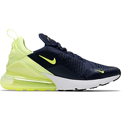 81c0b0b905 Amazon.com | Nike Air Max 270 Womens (7 M US, Obsidian/Volt Glow-Volt Glow)  | Fashion Sneakers