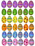 Joyin Toy 36 PCs Jumbo Plastic Printed Bright Easter Eggs, Over 3 tall for Easter Hunt, Basket Stuffers Fillers, Classroom Prize Supplies, Filling Treats and Party Favor