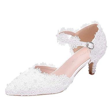 sandalen damen weiß bequem absatz 4 cm