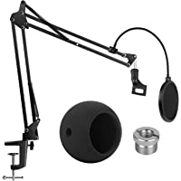 InnoGear Adjustable Mic Stand for Blue Snowball and Blue Snowball iCE Suspension Boom Scissor Arm Stand with Microphone…