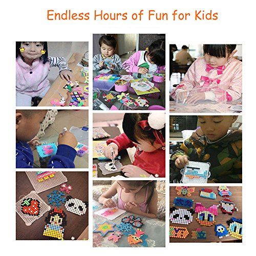 Fuumuui DIY 2018 Top for Kids Girls Boys 24 Colors Fuse Beads Kits Creative Xmas Toy for Children Teenager
