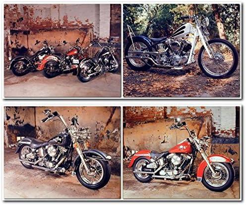"Vintage Harley-Davidson Motorcycle  8 x 10/""  Photo Print"