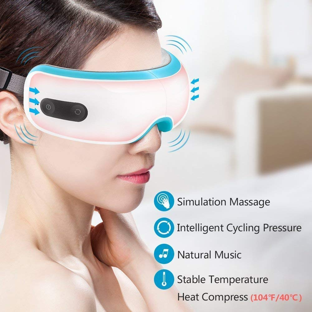 Breo iSee 3S Electric Eye Massager with HeatingVibration Music and Air Pressure for Eye Fatigue Dry