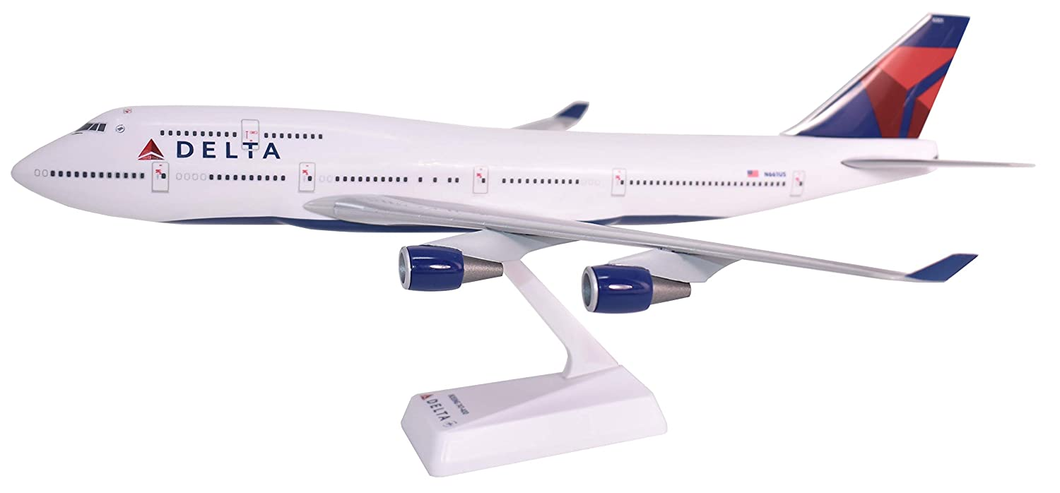 Delta (07Cur) Boeing 747400 Airplane Miniature Model Snap Fit 1 200 Part ABO74740H019