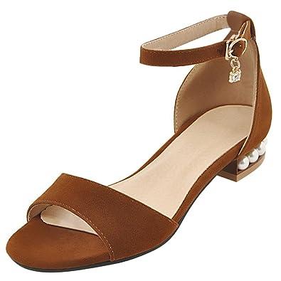 Artfaerie Damen Flache Slingback Sandalen mit Schnalle und Nieten Open Toe Riemchen Bequem Schuhe