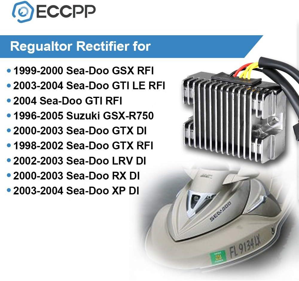 ANGLEWIDE Voltage Regulator Rectifier Regulator Rectifier Fit for 1999-2000 Sea-Doo GSX 2003-2004 Sea-Doo GTI 1998-2003 Sea-Doo GTX 2002-2003 Sea-Doo LRV 2000-2003 Sea-Doo RX 2003-2004 Sea-Doo XP