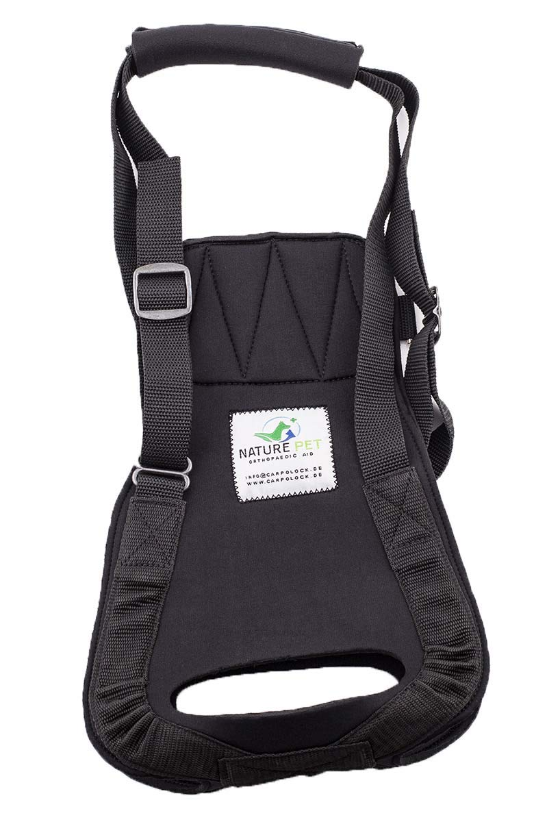 Medical rear Harness   Lifting Harness   Helping Harness   Carrying aid for Dogs (M, Black)