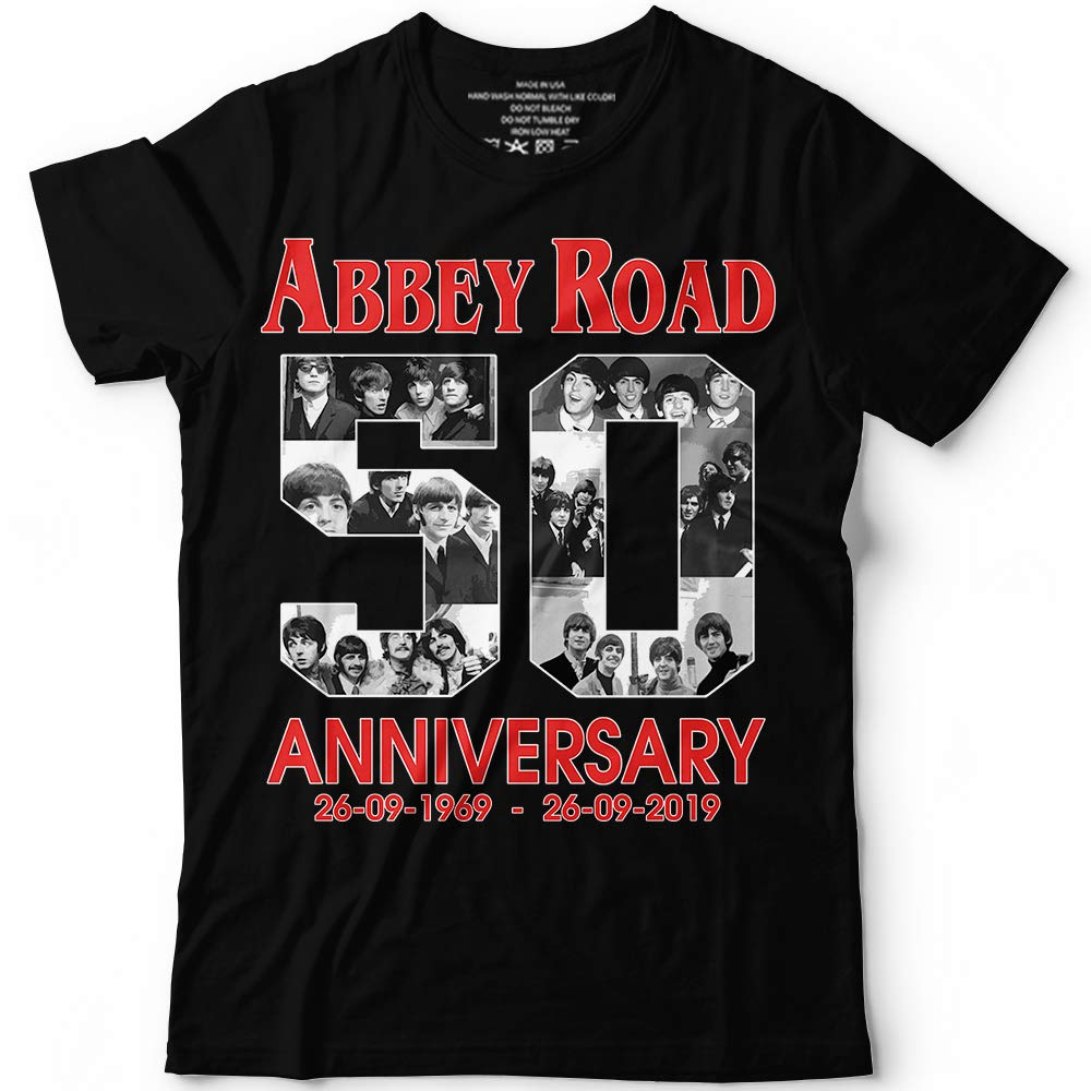 Abbey 50th Anniversary Beatles Band Fan Customized Handmade Tshirt Tank Top