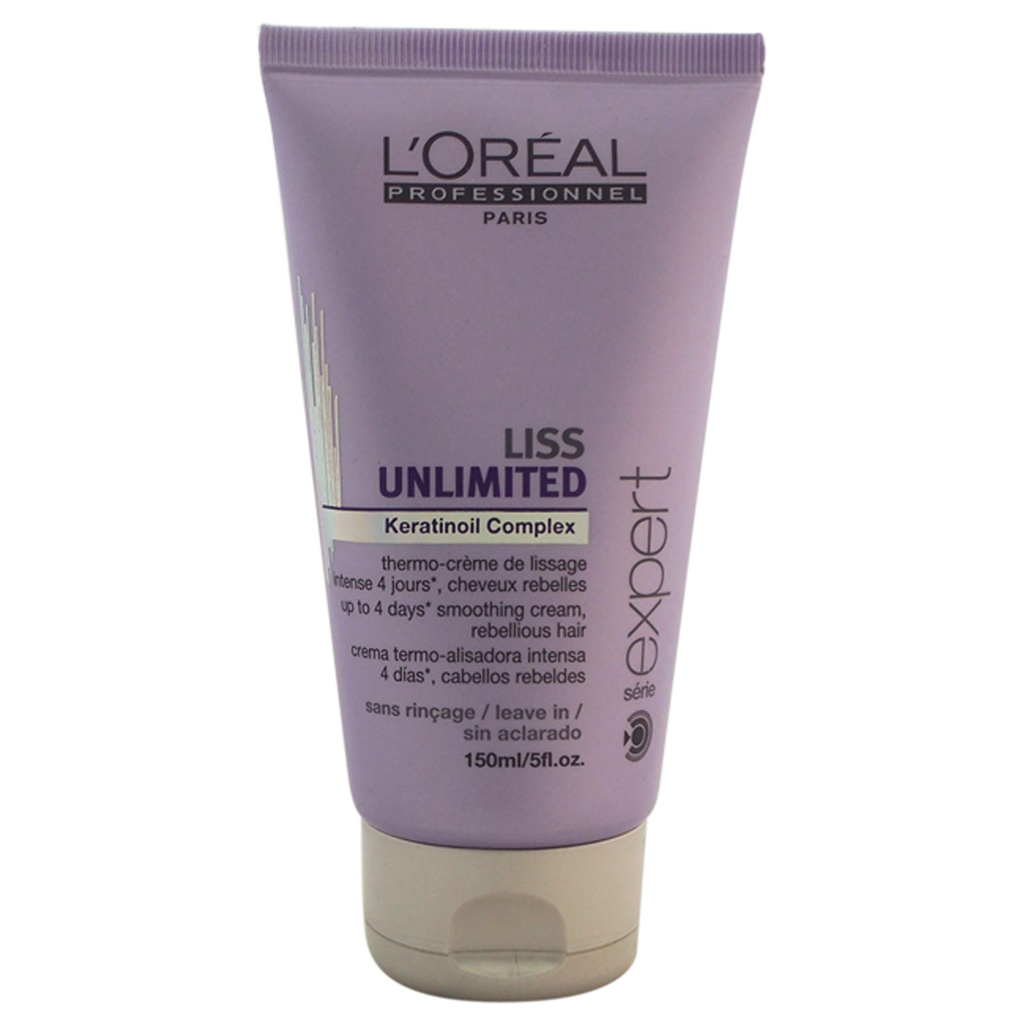 L'Oreal Professional Serie Expert Liss Unlimited Keratinoil Complex Cream, 5 Ounce