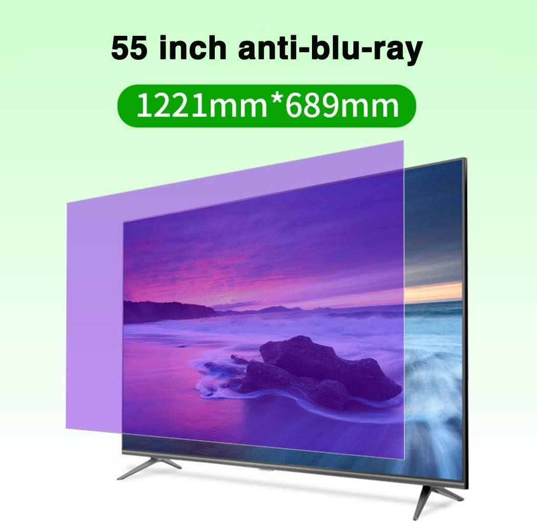 HDCW 55 Pulgadas de Pantalla Anti-Blue Light TV protección Protector/Radiación/Anti-UV, Resistente a los arañazos de la película, para Sharp, Sony, Samsung, Hisense, LG Etc,A: Amazon.es: Hogar