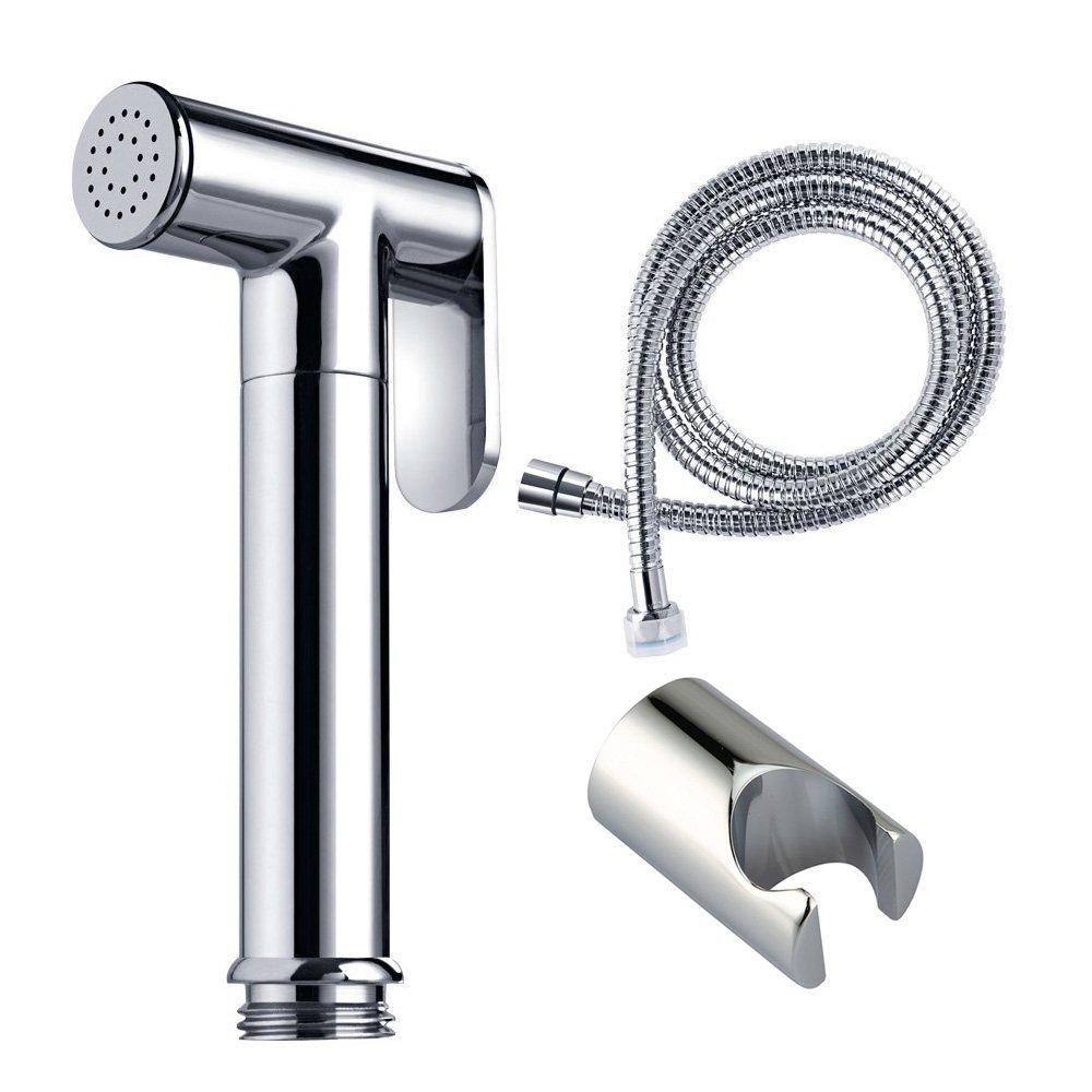 VANRA Handheld Bidet Shattaf Kit Bidet Sprayer Set for Toilet Stainless Steel Cloth Diaper Sprayer Faucet with Hose Bracket Shower Holder