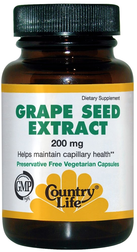 Country Life, Grape Seed Extract, 200 mg, 60 Veggie Caps
