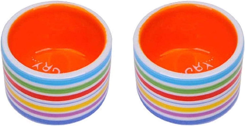 Hamster Food Bowl Ceramic Food and Water Bowl-2 Pcs for Guinea Pig Rabbit Gerbil Chinchilla Hedgehog Rat