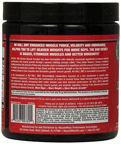 MuscleMeds No Bull XMT Pre-Workout Powder, Lemon Ice, 8.11 Ounce