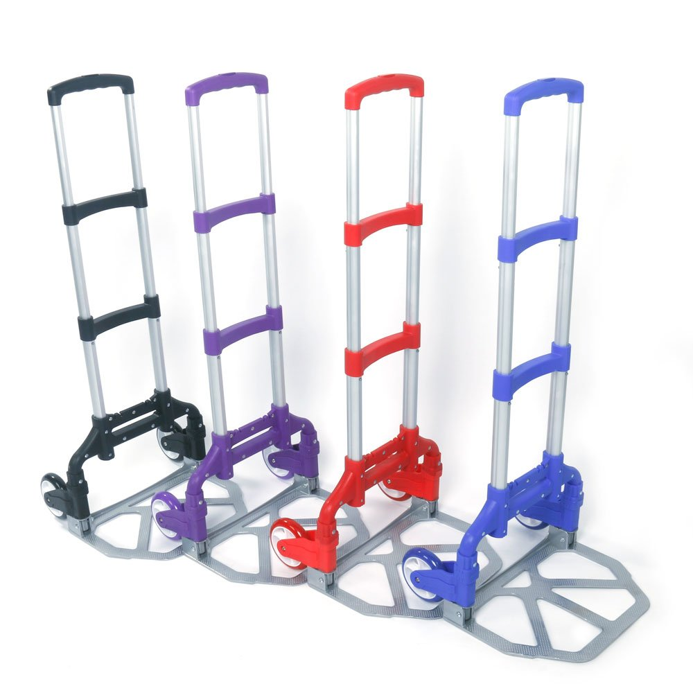 WisHome Portable Folding Collapsible Aluminum Cart Dolly Push Truck Trolley Black by WisHome (Image #8)
