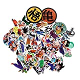 Dragon Ball Z Super Stickers Figure Goku Black Decal for Laptop Phone Kids Party (50Pcs-A)