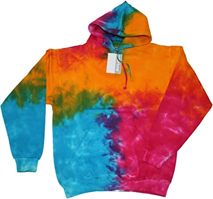 youth tie dye hoodie sweatshirt kids size tie dyed hooded sweater