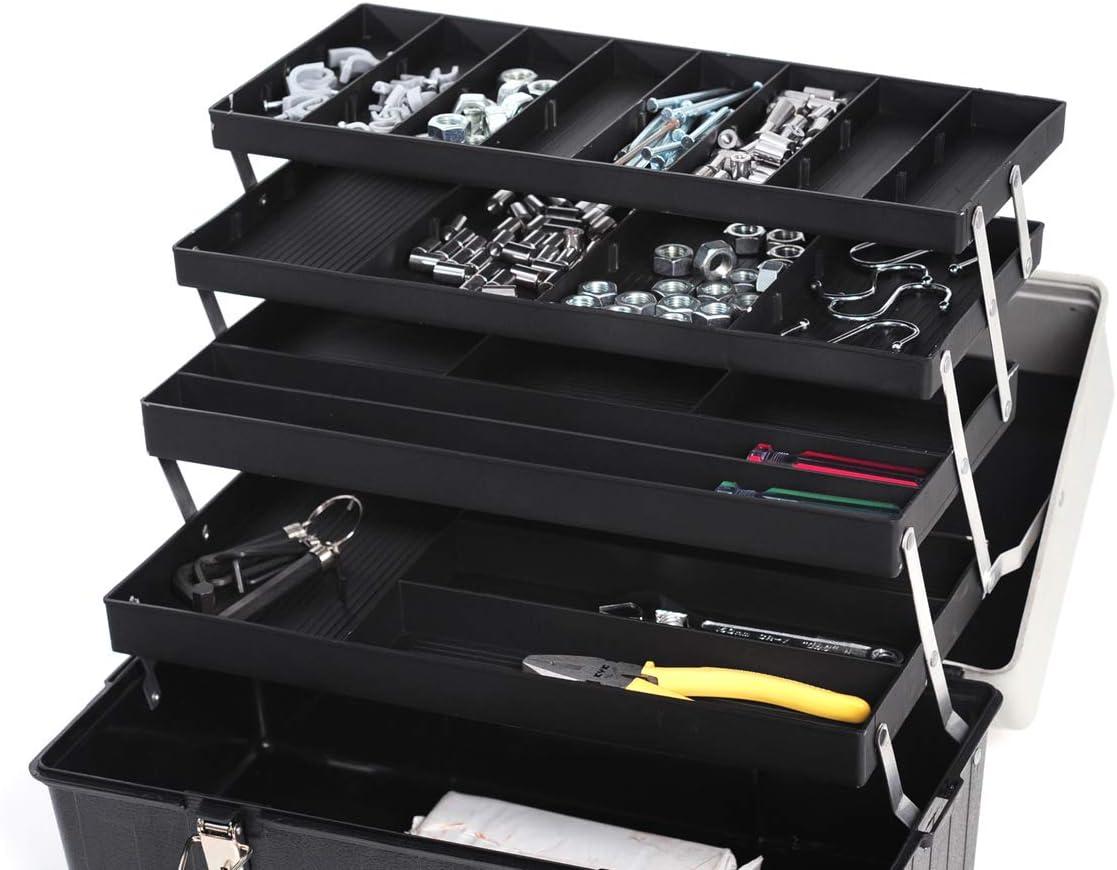 Shuter Duradera Profesional Multiusa Caja de Herramienta con 4 Bandejas Plegable 14L