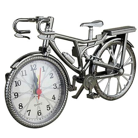 lzndeal Forma de Bicicleta Vintage Despertador Divertido Reloj de ...