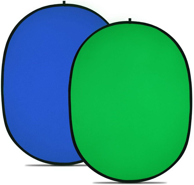 Sul lato opposto del green screen la superficie è blu.
