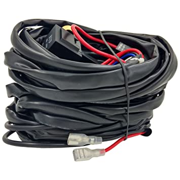 61IrzvcWNQL._SY355_ amazon com coolyeah wiring harness kit 1 lead with toggle switch Wire Harness Assembly at bayanpartner.co