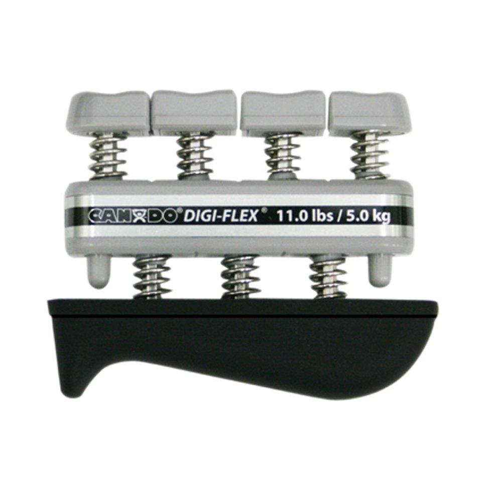 CanDo Digi-Flex Mano Exerciser-Silver, XX-Heavy-Finger (11.0kg.)/Mano (38,0lbs.) XX-Heavy-Finger (11.0kg.)/Mano (38 0lbs.)