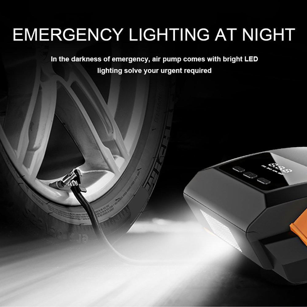 Amazon.es: Inflador de neumáticos de coche compresor de aire - Interruptor automático de SEAMETAL inflador de ruedas digital Preajuste de hinchable de bomba ...