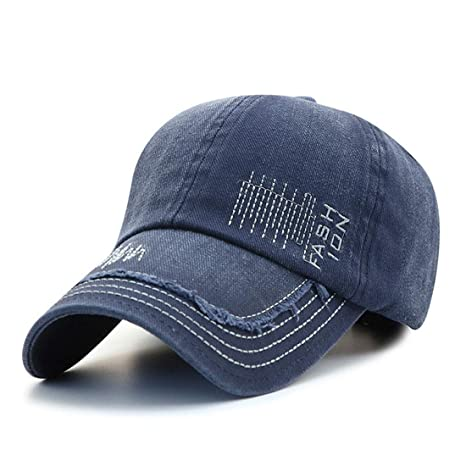 Baseball Cap Old Denim Washed Vintage Embroidered Letters Sunscreen Cap Cotton Spring Outdoor Hat