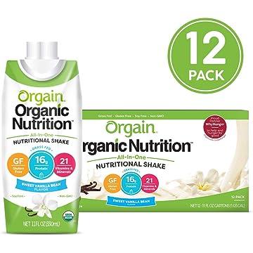 powerful Orgain Organic Nutrition Shake