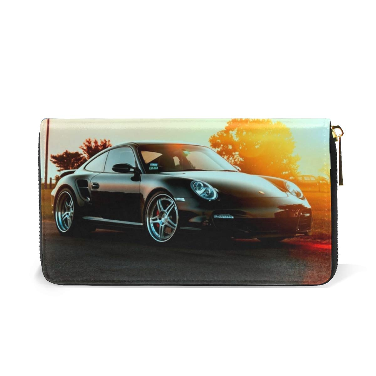 Amazon.com: Porsche Cars City Sunset Themes Leather Clutch Purse Long Wallet Handbag Card Holder: Shoes