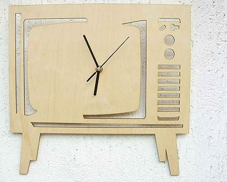 Elisa Tv 100 Made In Italy Radice Design Wood Wall Clock Amazon De Küche Haushalt