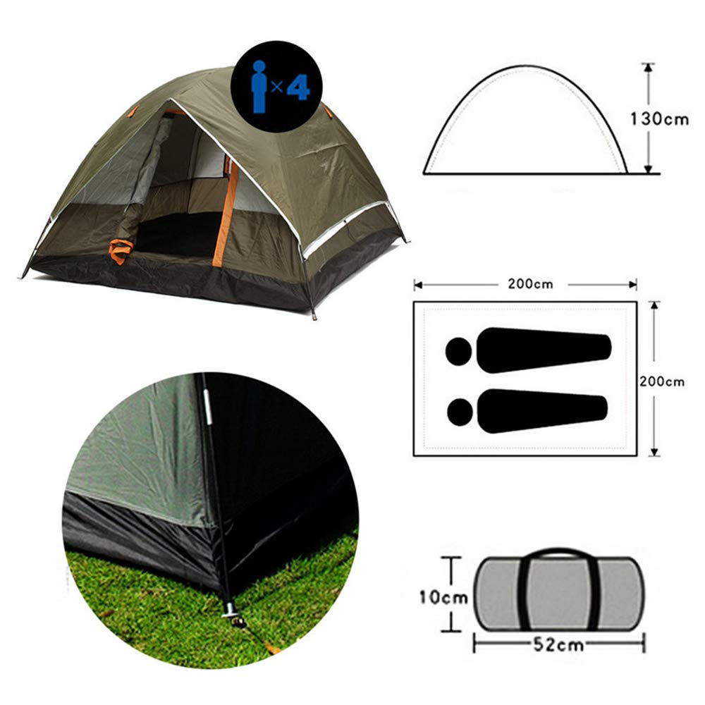 3-4 People Windbreak Tent Double Layer Waterproof Open Anti UV Tourism Tents for Outdoor Hiking Beach Trip by Tent Sun Shelter