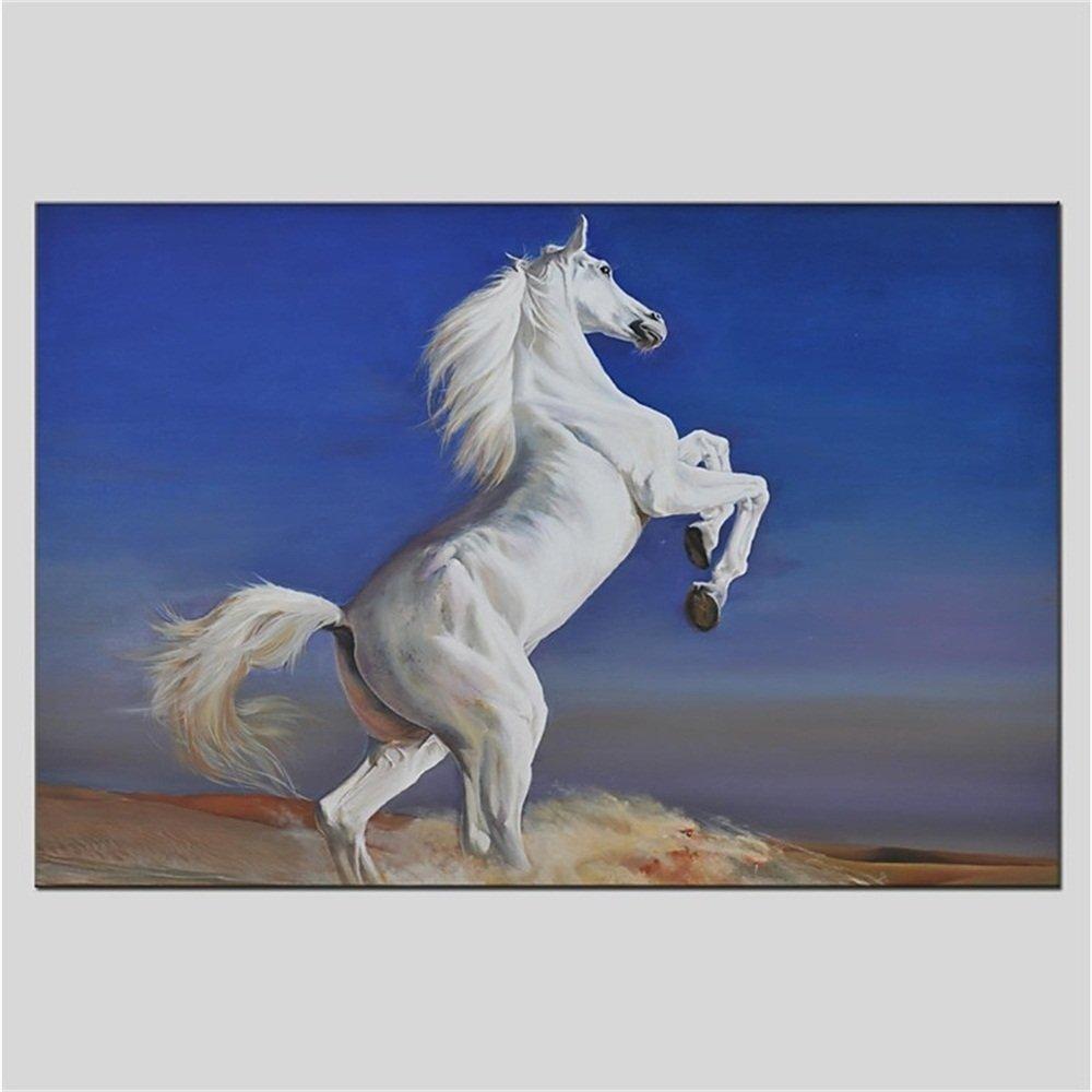 Wanddekoration Ölgemälde Wandbild Wandkunst Moderne Kunst Handmalerei Pferd Wohnzimmer Schlafzimmer Leinwand Bereit Zu Hängen,60×90Cm