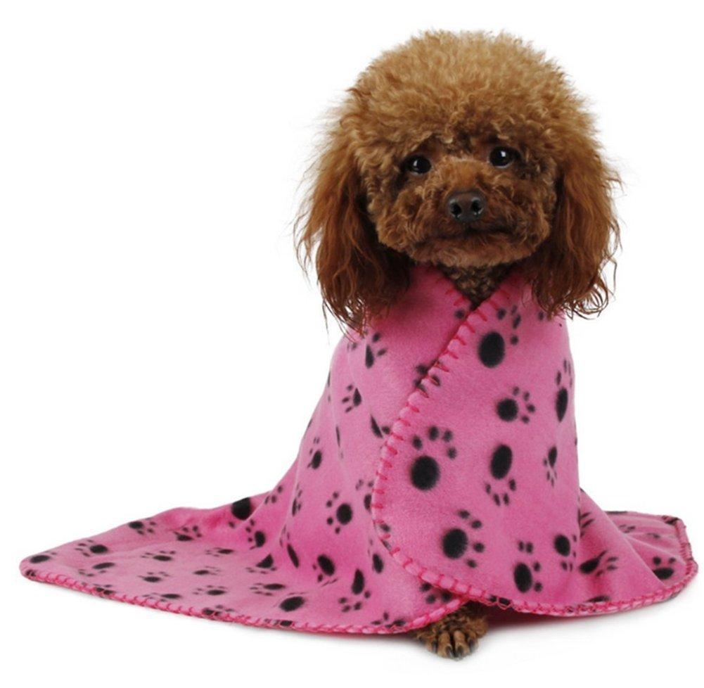 Beauty DIY Mart Manta de Lana para Gato Perro, Precioso Diseño Impresión de la Pata Caliente Suave Fleece Mat Manta de Cama Sofá para Mascotas Cachorros, ...