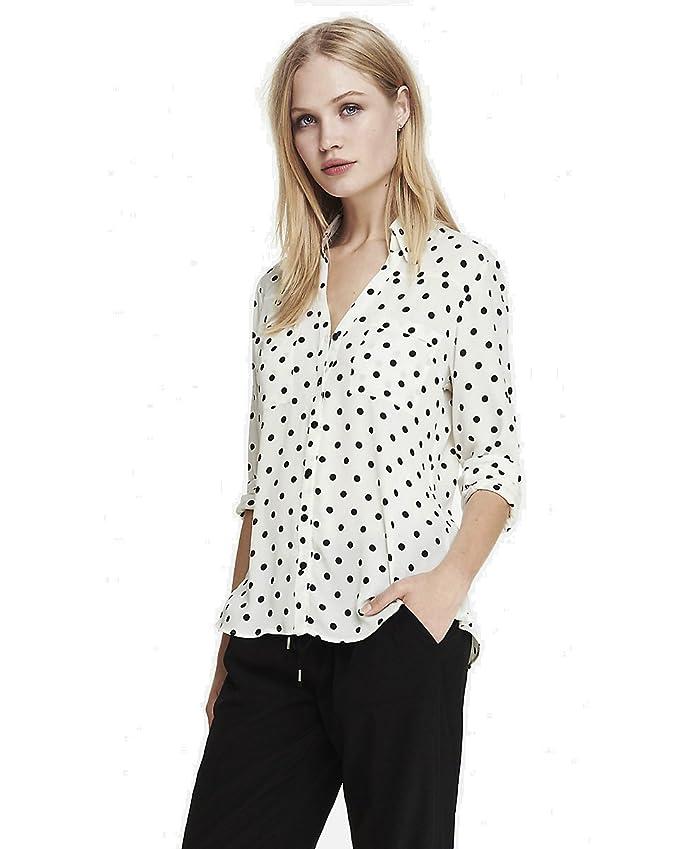 4697cb20683a3 Express Women s Convertible Sleeve Portofino Shirt (XS