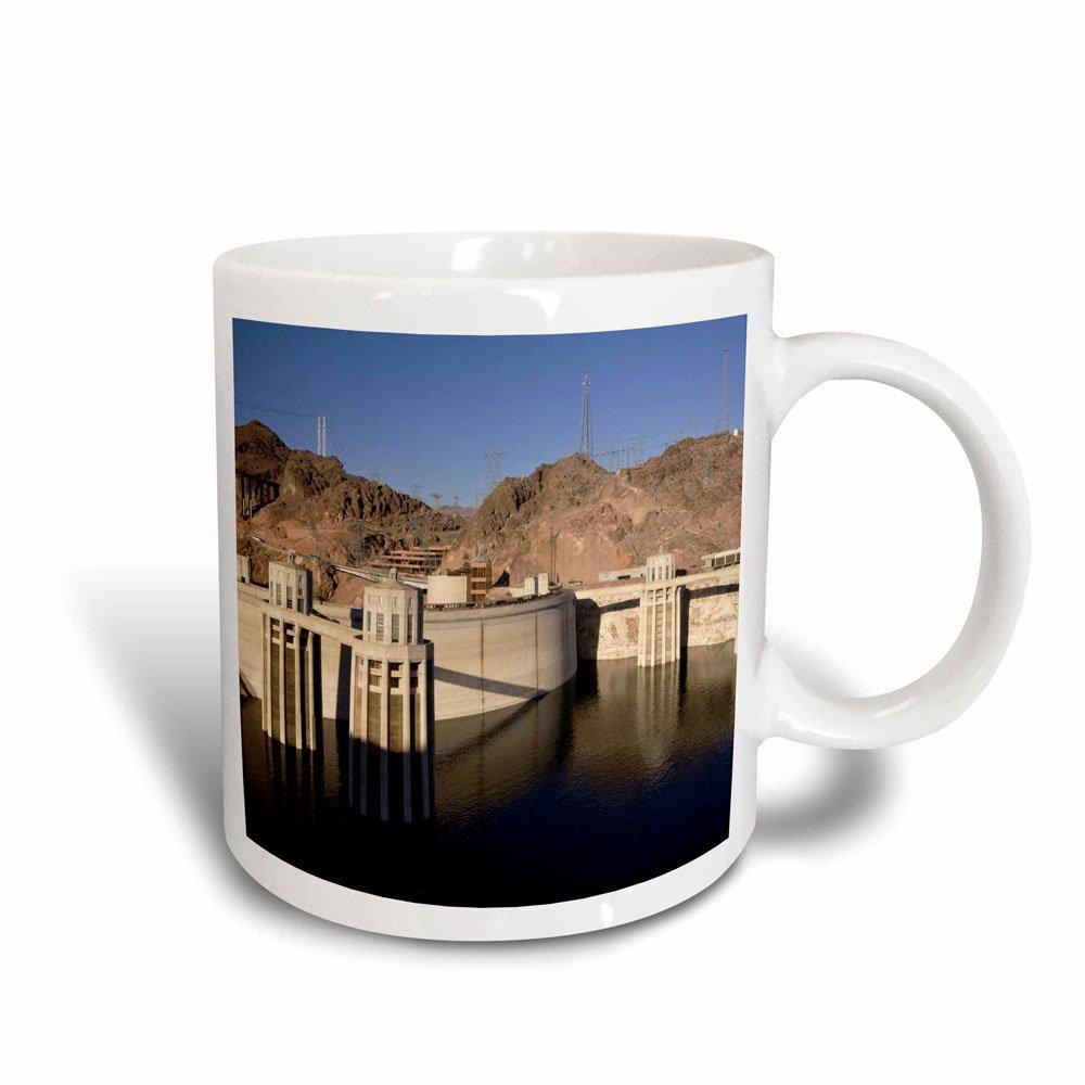 3dRose 92240_3 Low Water Levels at The Hoover Dam, Lake Mead, Nv Maresa Pryor Magic Transforming Mug, 11 oz, Black/White