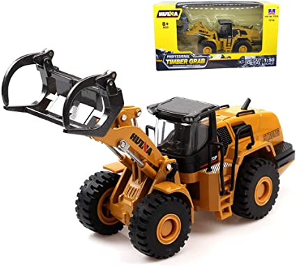 1//50 Scale Diecast Articulated Dump Truck Metal Construction Vehicle Model Toys
