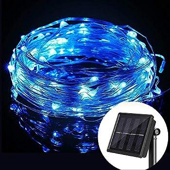 Amazon Com Wannabuy Solar String Lights 56ft 150 Leds