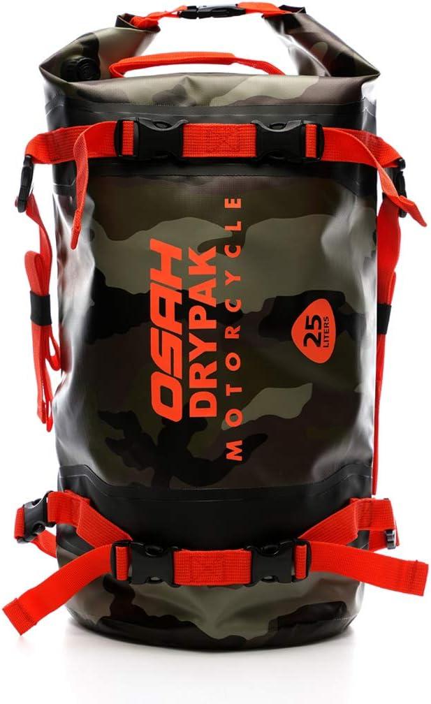 Motorrad Tasche Wasserdicht Reisetasche Sattelrolle Gepäck Tasche Reflektierend Für Motorradfahren Wandern Radfahren Reisen Camping Outdoor Kayaking 25l Tarnung Auto