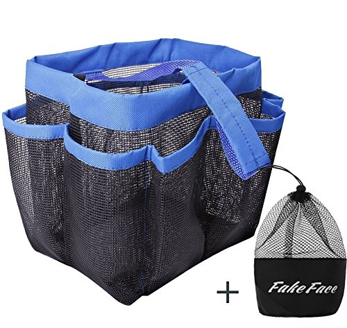 Greenery Premium Oxford Cloth Mesh Storage Tote Bag Organizer 8 Pockets Durable Bathroom Storage Bag Pouch Toilet Washing Bag for Cosmetics, Toiletries, Towels, Brushes,Toys, etc (Blue) (Pocket Hair Dryer compare prices)