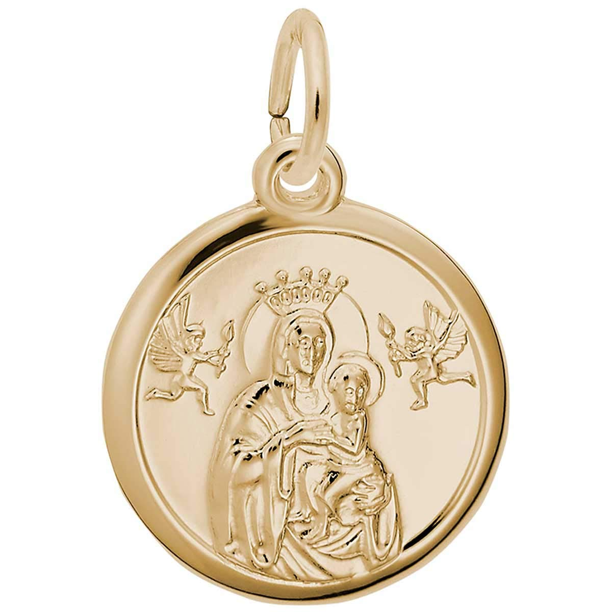 Rembrandt Charms Madonna and Child Charm, 14K Yellow Gold