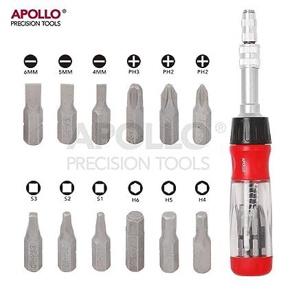 Apollo - Destornillador de trinquete con mango telescópico ...