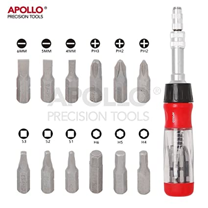 Apollo - Destornillador de trinquete con mango telescópico flexible ...