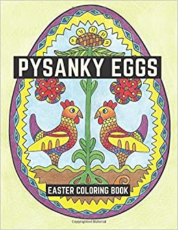 Amazon Pysanky Eggs Easter Coloring Book 9780692658932 LightBurst Media Books