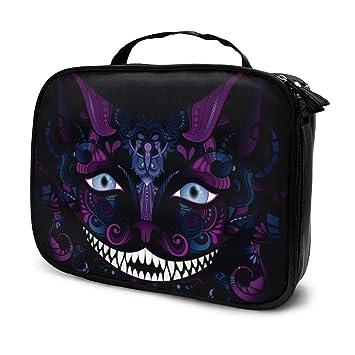 Cheshire Cat Grin Aislada Animal ficticio Negro Maquillaje ...